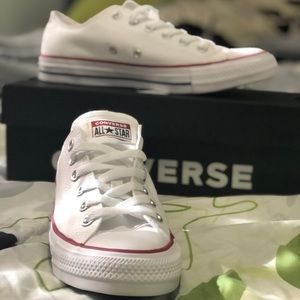 Brand NEW white converse